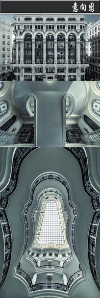 灰色欧式建筑意向图 JPG