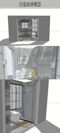 灰色系列厕所模型