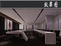 简欧风办公室大会议室效果图