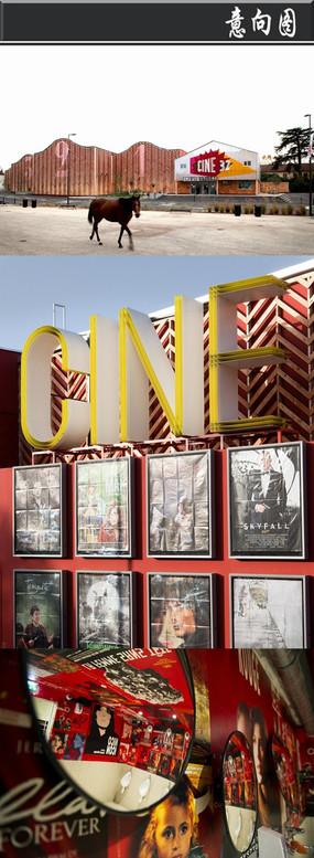 经典电影海报创意电影院意向图