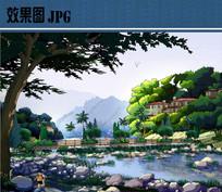 景观桥方案效果图