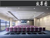 客服机房二层大培训教室效果图 JPG