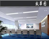 客服机房二层中培训教室效果图  JPG