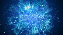 粒子动画片头LOGO视频模版