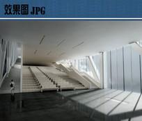 美术馆室内展厅效果图
