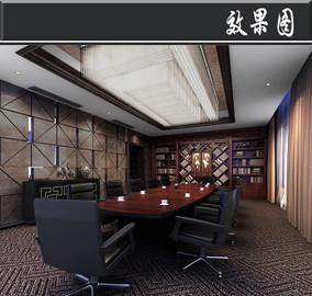 某混搭风会议中心一层会客厅