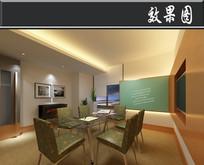 某中式集团贷款银行会议室 JPG