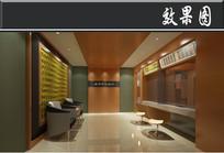 某中式集团贷款银行一楼入口