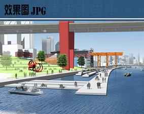 桥头公园节点效果图