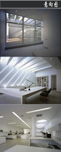 全白装饰办公空间意向图