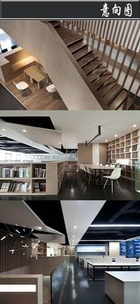 全木头家具创意办公空间意向图