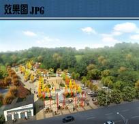 入口广场景观鸟瞰图 JPG