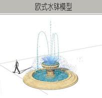 散喷喷泉模型 skp