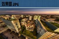 商务中心夜景鸟瞰图