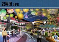 商业广场夜景效果图 JPG