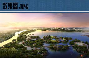生态公园景观鸟瞰图