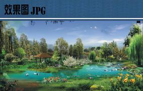 生态湿地效果图