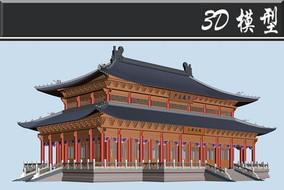 双层大雄宝殿古建3D模型