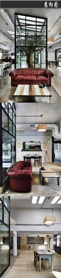 透明树木特色咖啡厅意向图 JPG