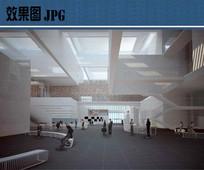 图书馆室内空间效果图