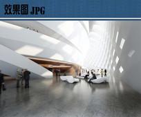 文化中心建筑室内空间效果图