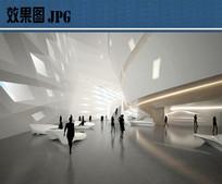 文化中心室内空间效果图