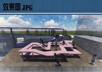 屋顶游乐区效果图