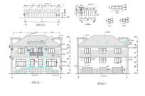 现代风格别墅立面CAD