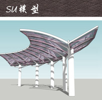 现代结构廊架