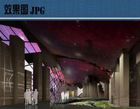 现代展厅室内效果图 JPG