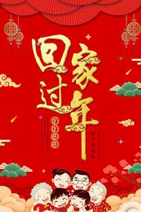 喜庆回家过年海报设计