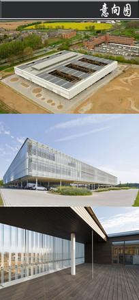 正方形天花镂空建筑意向图 JPG