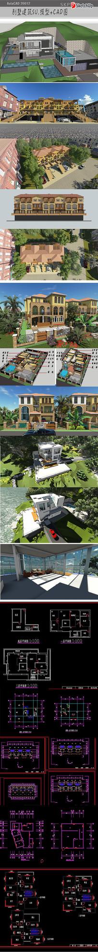 住宅建筑模型CAD图