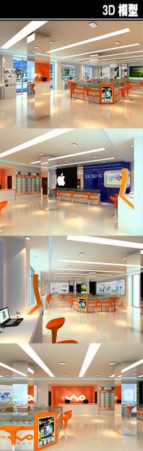 WO大型手机卖场3D模型