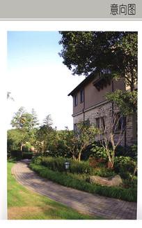 别墅入口植物设计