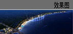 滨海景观夜景效果图