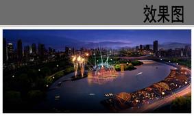 滨水公园中心广场效果图