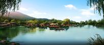 滨水景观效果图