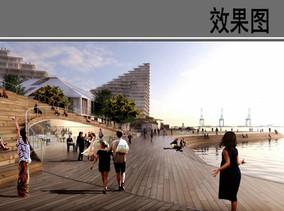滨水休闲广场效果图