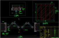 餐厅折叠门CAD施工图详图
