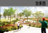 城市滨水公园景观效果图