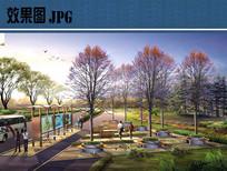 道路景观设计效果图 JPG