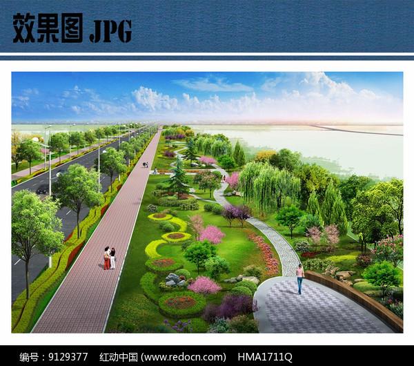 道路景观效果图图片