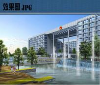 跌水喷泉效果图 JPG