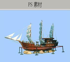 帆船PS素材 PSD