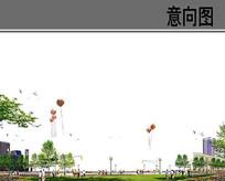 放飞气球草坪分层素材