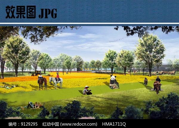 公园花海景观效果图图片