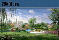 公园休闲节点效果图