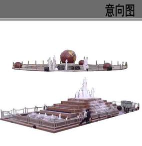广场喷泉水景素材