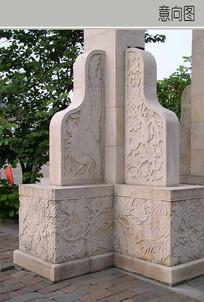 古典景观柱脚样式